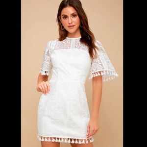 Finders Keepers White Lace Dress